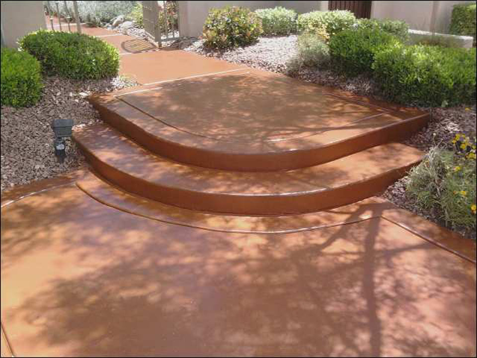 Stain With Paver Installation